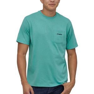 パタゴニア Tシャツ トップス メンズ Patagonia Men's Line Logo Ridge Pocket Responsibili-Tee Short Sleeve T-Shirt LightBerylGreen astyshop