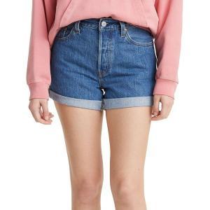 リーバイス カジュアルパンツ ボトムス レディース Levi's Women's Premium 501 Long Shorts Sansome Ransom|astyshop