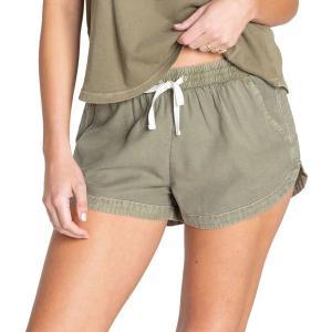 ビラボン カジュアルパンツ ボトムス レディース Billabong Women's Road Trippin' Shorts Sage|astyshop