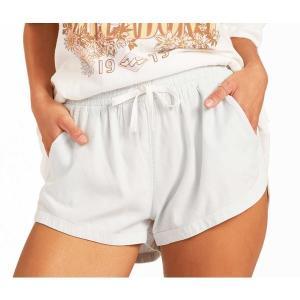 ビラボン カジュアルパンツ ボトムス レディース Billabong Women's Road Trippin' Shorts Light Chambray|astyshop