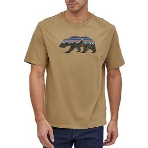 パタゴニア Tシャツ トップス メンズ Patagonia Men's Fitz Roy Bear Organic Cotton T-Shirt ClassicTan astyshop