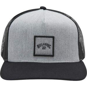 ビラボン 帽子 アクセサリー メンズ Billabong Men's Stacked Trucker Hat Grey Heather|astyshop