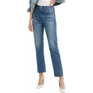 リーバイス カジュアルパンツ ボトムス レディース Levi's Women's 501 High Rise Straight Leg Jeans Athens Dark|astyshop