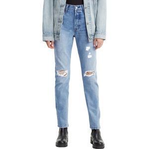 リーバイス カジュアルパンツ ボトムス レディース Levi's Women's 501 High Rise Straight Leg Jeans Athens Crown Destruction|astyshop