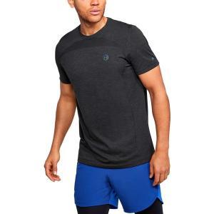 アンダーアーマー Tシャツ トップス メンズ Under Armour Men's Fitted RUSH Seamless T-Shirt Black/Black astyshop