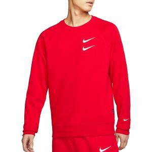 ナイキ パーカー・スウェットシャツ アウター メンズ Nike Men's Sportswear Double Swoosh French Terry Crewneck UniversityRed|astyshop