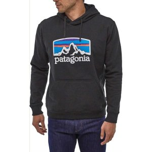 パタゴニア パーカー・スウェットシャツ アウター メンズ Patagonia Men's Fitz Roy Horizons Uprisal Hoodie Black|astyshop