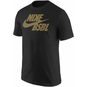 ナイキ Tシャツ トップス メンズ Nike Mens BSBL Swoosh T-Shirt Black astyshop