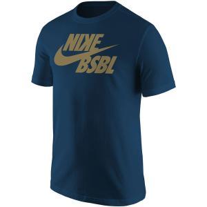 ナイキ Tシャツ トップス メンズ Nike Mens BSBL Swoosh T-Shirt Navy astyshop