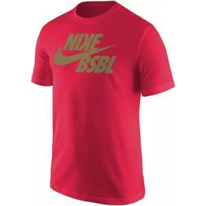 ナイキ Tシャツ トップス メンズ Nike Mens BSBL Swoosh T-Shirt Red astyshop