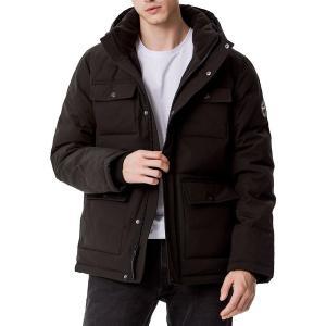 トミー ヒルフィガー ジャケット&ブルゾン アウター メンズ Tommy Hilfiger Men's Quilted 4 Pocket Hooded Puffer Jacket Black|astyshop
