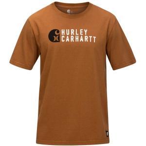 ハーレー Tシャツ トップス メンズ Hurley Men's Hurley X Carhartt Stacked T-Shirt CarharttBrown astyshop