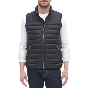 トミー ヒルフィガー ジャケット&ブルゾン アウター メンズ Tommy Hilfiger Men's Quilted Puffer Vest Black|astyshop