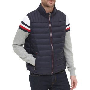 トミー ヒルフィガー ジャケット&ブルゾン アウター メンズ Tommy Hilfiger Men's Quilted Puffer Vest Midnight|astyshop