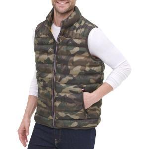 トミー ヒルフィガー ジャケット&ブルゾン アウター メンズ Tommy Hilfiger Men's Quilted Puffer Vest Camouflage|astyshop