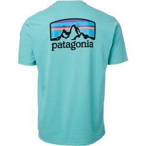 パタゴニア Tシャツ トップス メンズ Patagonia Men's Fitz Roy Horizons Responsibili-Tee T-Shirt LightBerylGreen astyshop