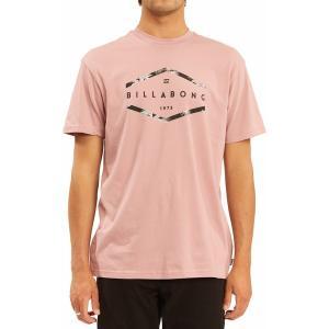 ビラボン シャツ トップス メンズ Billabong Men's Entry Short Sleeve Graphic T-Shirt Dusty Pink|astyshop