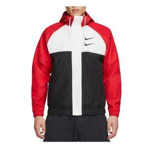 ナイキ ジャケット&ブルゾン アウター メンズ Nike Men's Sportswear Double Swoosh Woven Hooded Jacket UniversityRed|astyshop