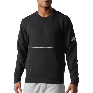 アディダス パーカー・スウェットシャツ メンズ adidas Men's Sport ID Crewneck Sweatshirt Black...