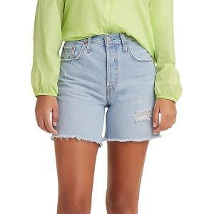 リーバイス カジュアルパンツ ボトムス レディース Levi's Women's 501 Original High-Rise Mid-Thigh Jeans Shorts Luxor Focus|astyshop