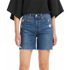 リーバイス カジュアルパンツ ボトムス レディース Levi's Women's 501 Original High-Rise Mid-Thigh Jeans Shorts Charleston Picks|astyshop