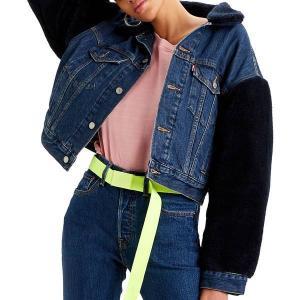 リーバイス ジャケット&ブルゾン アウター レディース Levi's Women's Premium Cocoon Sherpa Trucker Jacket Hot Fuzz|astyshop