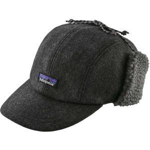 パタゴニア 帽子 アクセサリー メンズ Patagonia Men's Recycled Wool Ear Flap Cap ForgeGrey astyshop