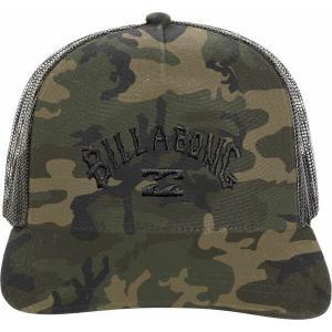 ビラボン 帽子 アクセサリー メンズ Billabong Men's Flatwall Trucker Hat Camo|astyshop