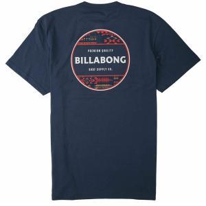 ビラボン シャツ トップス メンズ Billabong Men's Rotor Short Sleeve Graphic T-Shirt Navy|astyshop