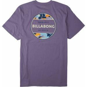 ビラボン シャツ トップス メンズ Billabong Men's Rotor Short Sleeve Graphic T-Shirt Purple Haze|astyshop