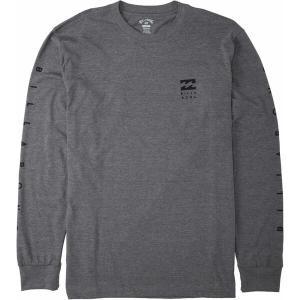 ビラボン シャツ トップス メンズ Billabong Men's Unity Long Sleeve T-Shirt Dark Grey Heather|astyshop