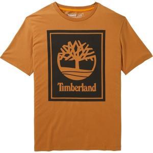ティンバーランド Tシャツ トップス メンズ Timberland Men's Stack Logo T-Shirt Wheat/Black astyshop
