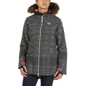 アンダーアーマー ジャケット・ブルゾン レディース アウター Under Armour Women's ColdGear Infrared Kymera Jacket Black / Marathon Red / White|astyshop