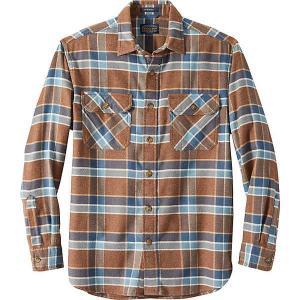 ペンドルトン シャツ メンズ トップス Pendleton Men's Super Soft Burnside Flannel Shirt Brown/Tan/Blue Plaid|astyshop
