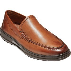 コールハーン メンズ スリッポン・ローファー シューズ Hamlin Traveler Venetian Loafer British Tan Handstain Leather|astyshop