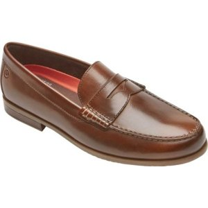 ロックポート メンズ スリッポン・ローファー シューズ Classic Loafer Lite 2 Curtys Penny Slip On Cognac Leather|astyshop