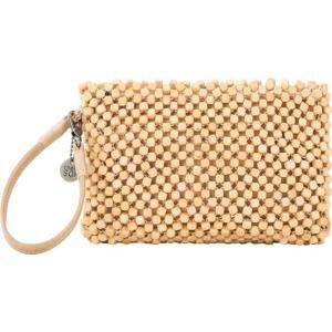 ザサック レディース 財布 アクセサリー Montara Beaded Wristlet Natural Wood Beads Hand Crochet astyshop
