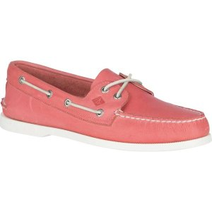 トップサイダー メンズ スリッポン・ローファー シューズ Authentic Original Boat Shoe Nantucket Red Full Grain Leather|astyshop