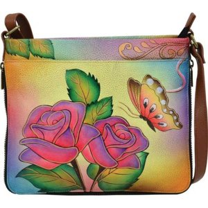 アンナバイアナシュカ レディース 財布 アクセサリー Hand Painted Extendable Crossbody 8324 Rose Butterfly astyshop
