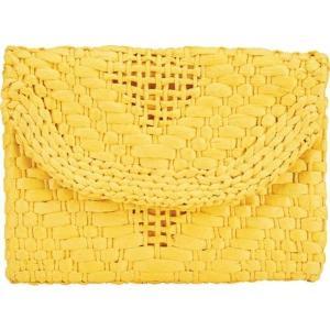 サンディエゴハット レディース 財布 アクセサリー Woven Magnetic Flap Clutch BSB3714 Yellow astyshop