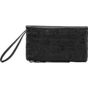 ザサック レディース 財布 アクセサリー Silverlake Soft Wallet 108916 Black Paillettes Leather astyshop