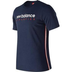 c76a3c7ba0a52 ニューバランス メンズ Tシャツ トップス MT91560 Athletics Side Stripe Tee Pigment