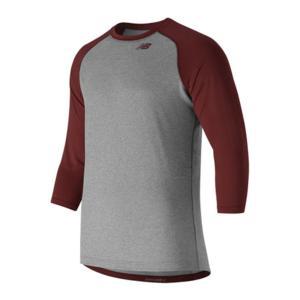 ニューバランス メンズ Tシャツ トップス TMMT601 3 Quarter Baseball Tee Team Cardinal astyshop