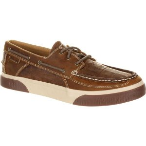 ヂュランゴ メンズ スリッポン・ローファー シューズ DDB0143 Music City Gator Emboss Boat Shoe Gator Emboss Grand Ole Brown Full Grain Leather|astyshop