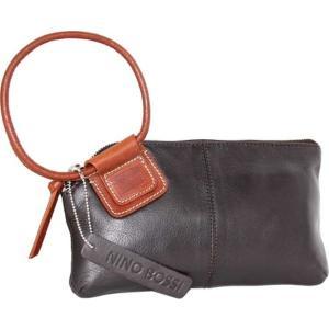 ニノボッシ レディース 財布 アクセサリー Skye Leather Ringed Clutch Chocolate astyshop