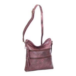 ニノボッシ レディース 財布 アクセサリー Zuri Leather Crossbody Bag Burgundy astyshop