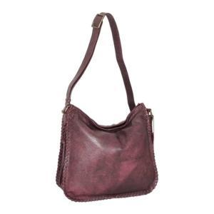 ニノボッシ レディース 財布 アクセサリー Shauna Leather Shoulder Bag Burgundy astyshop