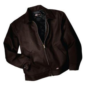 ディッキーズ メンズ ジャケット&ブルゾン アウター Insulated Eisenhower Jacket Long Dark Brown|astyshop