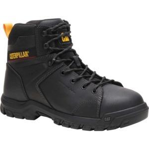 キャタピラー メンズ ブーツ&レインブーツ シューズ Wellspring Waterproof Steel Toe Work Boot Black Waterproof Full Grain Leather|astyshop