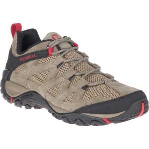 メレル メンズ ブーツ&レインブーツ シューズ Alverstone Hiker Boot Boulder Suede/Mesh|astyshop